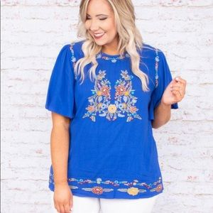 Second Nature Embroidered Blouse, Chic Soul